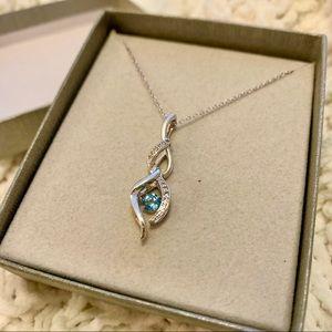 Blue Topaz Pendant - Sterling Silver